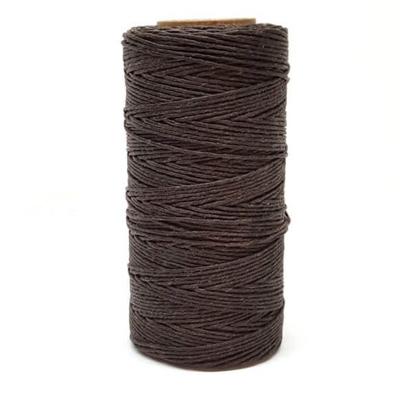 Waxed Brown hand stitching Thread .8 mm 500 Meter Spool From Hill Saddlery