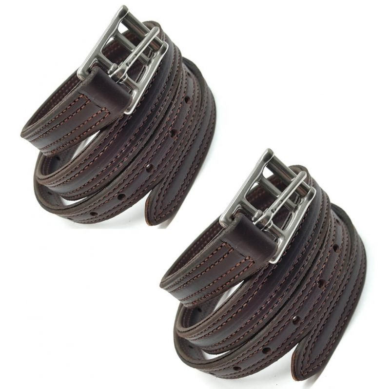 "2 pack 55"" english replacement stirrup leathers from hill saddlery"